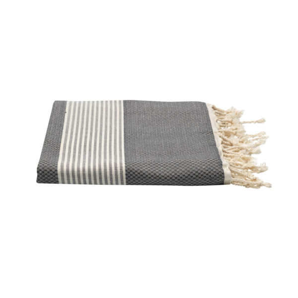 Hamamdoek bamboe - antracietgrijs - Happy Towels - FeelingGoods
