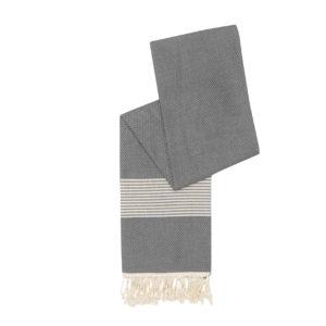 Hamamdoek bamboe - antracietgrijs - Happy Towels - FeelingGoods