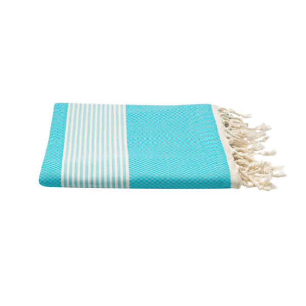 Hamamdoek bamboe - aquablauw - Happy Towels - FeelingGoods