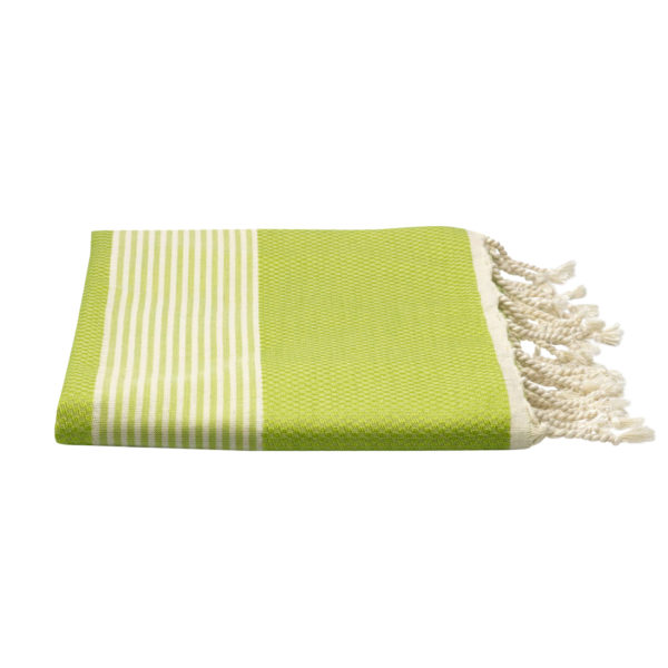 Hamamdoek - bamboe - limegroen - Happy Towels - FeelingGoods