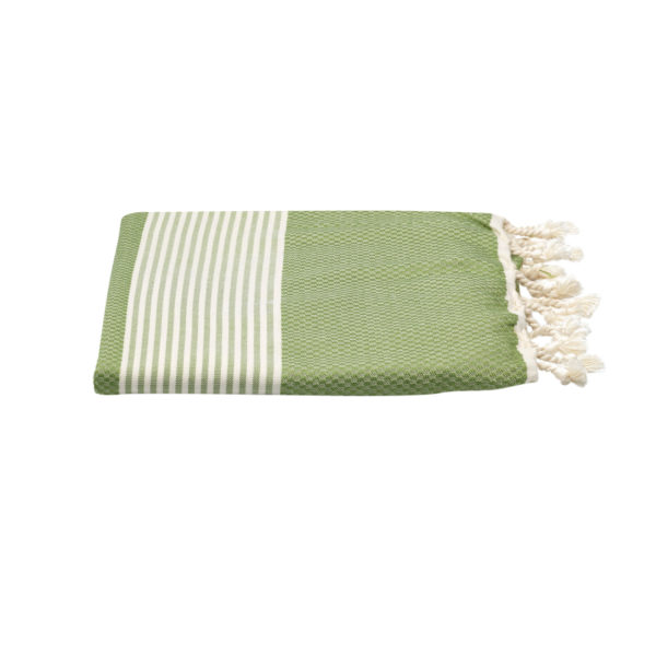 Hamamdoek -bamboe - olijfgroen - Happy Towels - FeelingGoods