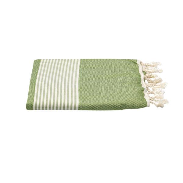 Hamamdoek -bamboe - olijfgroen - Happy Towels - FeelingGoods