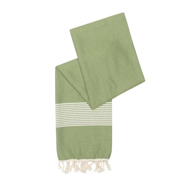 Hamamdoek - bamboe - olijfgroen - Happy Towels - FeelingGoods
