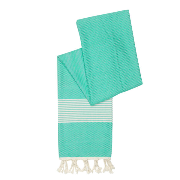 Hamamdoek bamboe - turquoise - Happy Towels - FeelingGoods