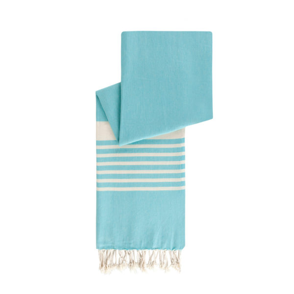 Hamamdoek biokatoen - azuurblauw - Happy Towels - FeelingGoods