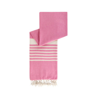 Hamamdoek biokatoen - fuchsia roze - Happy Towels - FeelingGoods