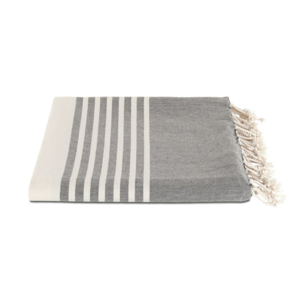 Hamamdoek biokatoen - leisteengrijs - Happy Towels - FeelingGoods