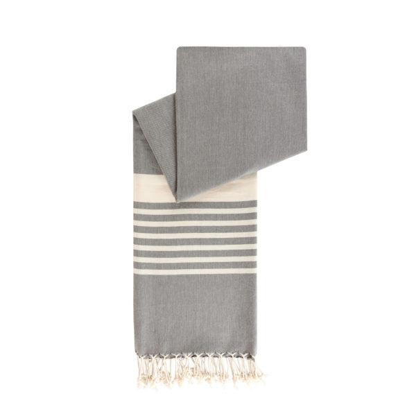 Hamamdoek biokatoen - leisteengrijs - Happy Towels - FeelingGoods