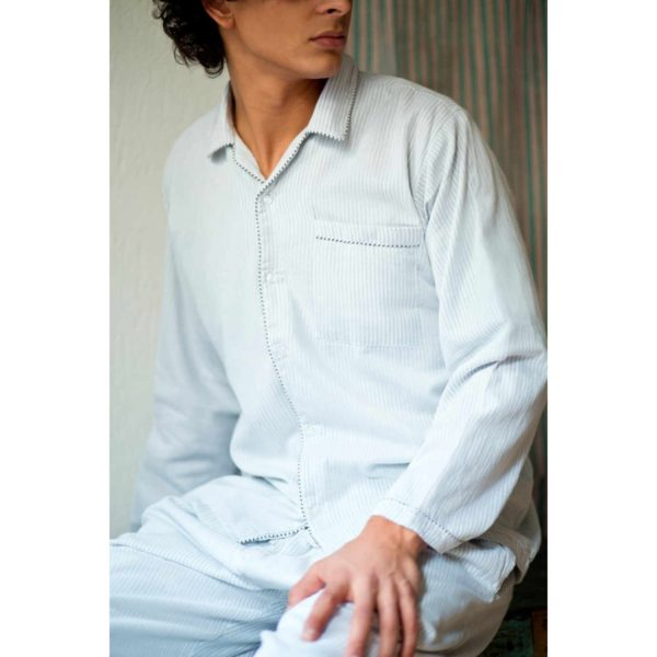 Heren Pyjama zwarte streep - Khasto- FeelingGoods