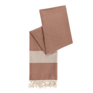 Hamamdoek bamboe - café latte - Happy Towels - FeelingGoods