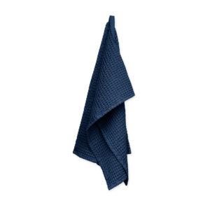 Wafelhanddoek-donkerblauw-Organic Company-FeelingGoods