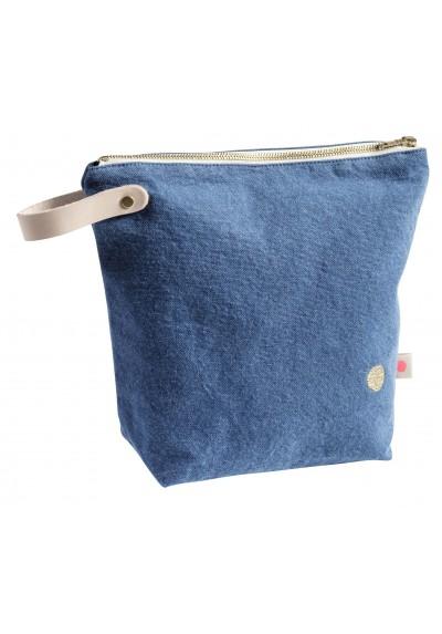 Toilettas blauw 23x28- La cerise sur le gateau- FeelingGoods