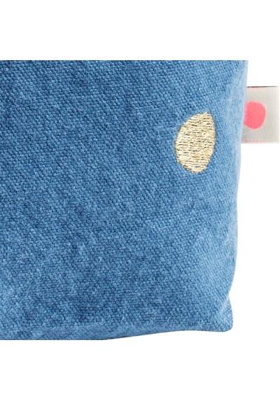 Toilettas blauw 23x28- detail-La cerise sur le gateau- FeelingGoods
