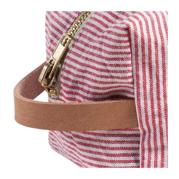 Toilettas rood gestreept kubus -detail- La cerise sur le gateau- FeelingGoods
