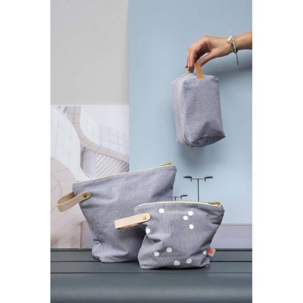 Toilettasen blauw gestreept -La cerise sur le gateau- FeelingGoods