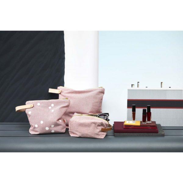 Toilettasen rood gestreept -La cerise sur le gateau- FeelingGoods