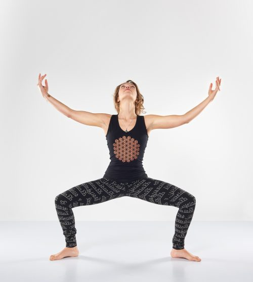 Yoga Tank Top Racerback Mandala-Urban Black- FeelingGoods