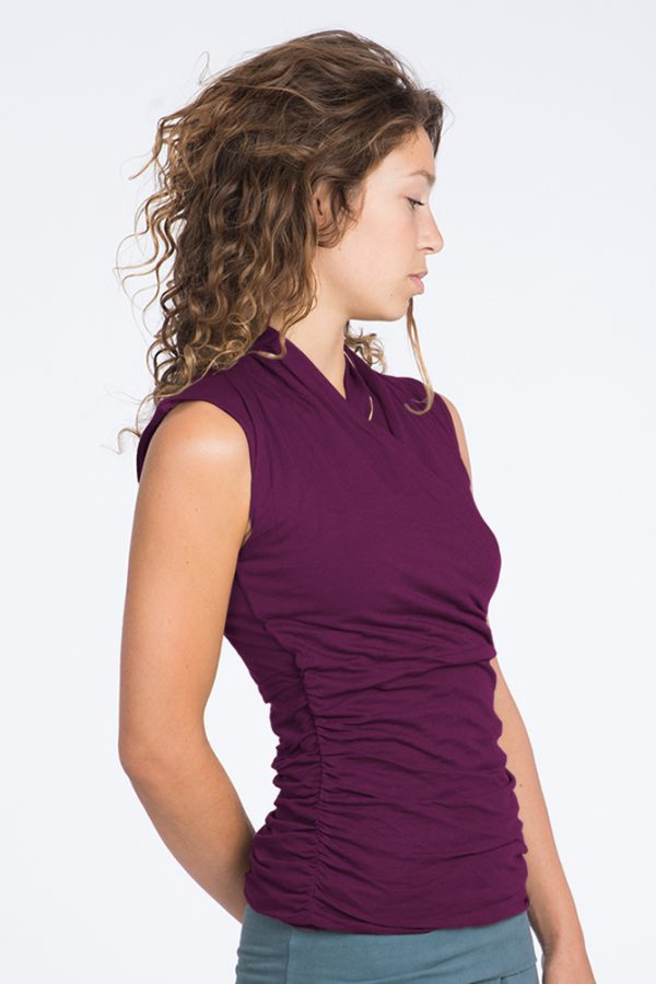 Yoga Top Good Karma– Deep Cherry -FeelingGoods