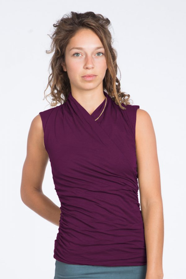 Yoga Top Good Karma– Deep Cherry - FeelingGoods