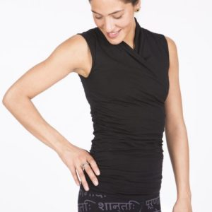 yoga top good karma urban black -FeelingGoods