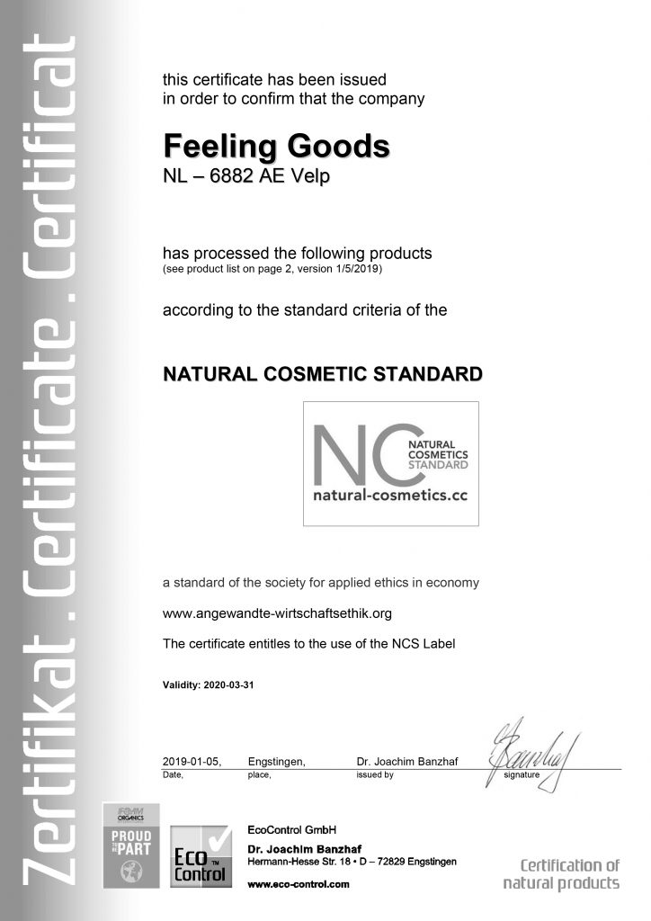 Certificering Feeling Goods