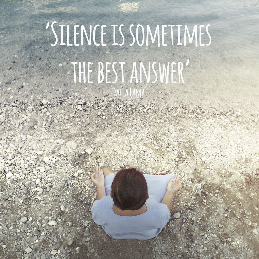 Silence is sometimes the best answer-Feeling Goods