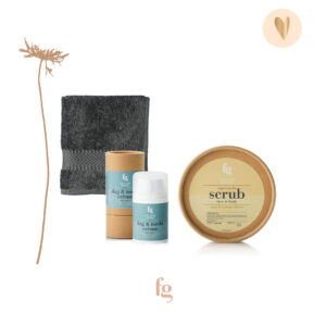Cadeaupakket man, face & bodyscrub, dag & nachtcrème, gezichtsdoekje - Feeling Goods